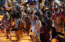 Steve Griffin  |  The Salt Lake Tribune file photo Members of the four Native American tribes in Utah perform during the Opening Ceremony at Rice-Eccles Stadium.