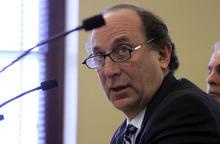 Francisco Kjolseth  |  The Salt Lake Tribune UTA General Manager Michael Allegra answers to questions and concerns posed by legislators during the legislative audit of UTA on Wednesday, February 8, 2012.