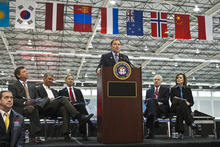 Chris Detrick  |  The Salt Lake Tribune Gov. Gary Herbert announces the formation of a panel to explore an Olympic bid for the 2022 or 2026 Winter Games in Utah at the Utah Olympic Oval in Kearns Wednesday February 8, 2012.