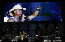 Rick Egan   |  The Salt Lake Tribune  Kenny Chesney performs at the USANA, Saturday, July 9, 2011.