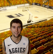 Trent Nelson  |  The Salt Lake Tribune Utah State's Preston Medlin is a star in the WAC as a sophomore. The shooting guard has emerged as one of the best in the league, and is reminding many of former Aggie superstar Jaycee Carroll.
