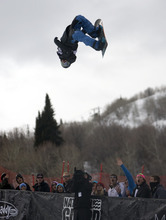 Kim Raff |The Salt Lake Tribune Paul Brichta competes in the snowboard superpipe men's final that is part of the Winter Dew Tour at Snowbasin in Huntsville, Utah on February 11, 2012.