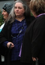 Rick Egan  |  The Salt Lake Tribune  Terrica Powell, mother of Josh Powell, after funeral for her grandsons, Charlie and Braden Powell, Saturday in Puyallup, Wash.