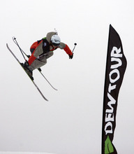 Kim Raff  |  The Salt Lake Tribune Alex Bellemare competes in the ski slopestyle men's final at the Winter Dew Tour at Snowbasin in Huntsville on Sunday.