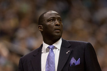 Trent Nelson  |  The Salt Lake Tribune Utah Jazz head coach Tyrone Corbin in the third quarter as the Utah Jazz host the Los Angeles Lakers, NBA basketball Saturday, February 4, 2012 at EnergySolutions Arena in Salt Lake City, Utah.