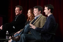 Jason Segel, Alyson Hannigan, Carter Bays, Co-Creator/ Executive Producer and Craig Thomas, Co-Creator/ Executive Producer of HOW I MET YOUR MOTHER. Photo: Monty Brinton/CBS