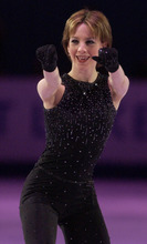 Tribune file photo Gold medalist Sarah Hughes during her first performance of  the figure skating Gala Exhibition of Champions program during the 2002 Olympics.