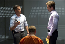In this film image released by 20th Century Fox, Tom Hardy, left, and Chris Pine are shown in a scene from