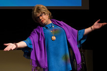 Chris Detrick     The Salt Lake Tribune Charles Lynn Frost, also known as Sister Dottie S. Dixon, acts out a scene of