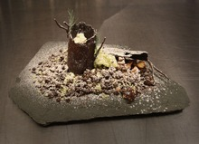 Rick Egan  | The Salt Lake Tribune  A landscape made of Amano chocolate for The Mist Project, Chef Gavin Baker's