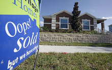 (AP Photo/John Raoux) Although sales are up, prices aren't. Median home prices in Salt Lake County in January fell to $171,000 from a near-peak of $220,000 in the same month in 2007.