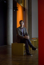 Kim Raff | The Salt Lake Tribune Aaron Moulton is the new curator at the Utah Museum of Contemporary Art in Salt Lake City. He is photographed in the