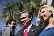 File  |  The Associated Press Former Utah Gov. Jon Huntsman and wife Mary Kaye during a campaign stop in South Carolina. The ex-presidential candidate is joining the board of Ford Motor Co.