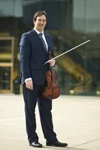 Chris Detrick  |  The Salt Lake Tribune Utah Symphony principal violist Brant Bayless poses for a portrait outside Abravanel Hall. Bayless will perform the regional premiere of