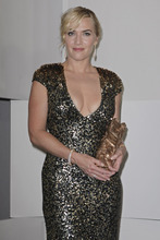 U.S. actress Kate Winslet holds the Cesar of honor award, during the 37th French Cesar Awards ceremony, in Paris, Friday Feb. 24, 2012. (AP Photo/Thibault Camus)