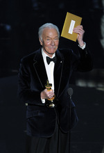 Christopher Plummer accepts the Oscar for best actor in a supporting role for