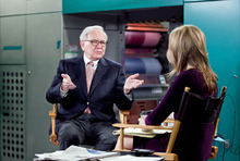 Billionaire inverstor Warren Buffett chairman and CEO of Berkshire Hathaway, is interviewed by Becky Quick, co-host of CNBC's