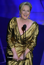 Meryl Streep accepts the Oscar for best actress in a leading role for