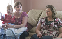 Paul Fraughton | The Salt Lake Tribune. Camilla Grondahl, holding her daughter Chloe, and Camilla's mother Halena Black, talk about the genetic mutation in their family causing what is now termed Ogden Syndrome. The syndrome led to the early deaths of male babies in the family.  Tuesday, February 14, 2012