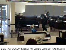 Security camera image of Cyprus Credit Union robbery suspect. (UPD photo)