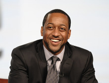 FILE - In this Jan. 7, 2012 file photo, actor Jaleel White speaks during the panel discussion for his upcoming Syfy channel game show