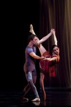 Ballet West's Arolyn Williams and Christopher Sellars in Helen Pickett's