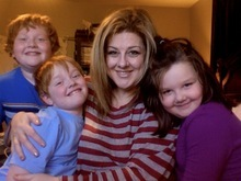 Tracy McKay and her children Jeffrey, 10, far left, Eric, 8, and Abigail, 5.