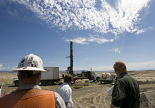 Al Hartmann  |  The Salt Lake Tribune Blue Castle Nuclear Project is conducting characterization studies for a licensing application with the U.S. Nuclear Regulatory Commission.