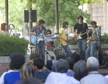 Tribune file photo Blue Sunshine Soul plays as part of the 2009 Brown Bag Concert Series in downtown Salt Lake City.