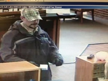 A man is on the loose after police say he robbed a North Salt Lake bank Thursday afternoon. Police say the adult male passed a note demanding money at a U.S. Bank, 1090 N. 500 East, at about 3:45 p.m. Courtesy North Salt Lake Police
