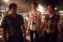From left, Jonathan Daniel Brown, Thomas Mann and Oliver Cooper are shown in a scene from