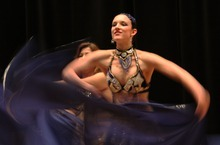 Rick Egan  |  The Salt Lake Tribune Belly dancing is good for the mind and spirit. Here, Jessica Poplar, from the group Amaya performs at the Meeting of the Tribes event held earlier this year.