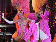 Cee Lo Green performs with the Jubilee! showgirls during the Caesars Entertainment