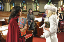 Courtesy Fred Hayes  |  ABC Family Tia Mowry, left, and Tori Spelling film a scene for the ABC Family movie