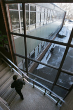 Steve Griffin  |  The Salt Lake Tribune While Orson Spencer Hall needs to be renovated, University of Utah officials aren't sure where they will put students while the work is done. OSH has the most classroom space of any building on the U. campus.