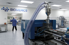 Trent Nelson  |  The Salt Lake Tribune A new clean room at Biomerics Tuesday, March 6, 2012. Biomerics, a company that supplies polymer solutions to the medical device and healthcare industries, has completed a 10,000 square-foot expansion of its Salt Lake City plant.