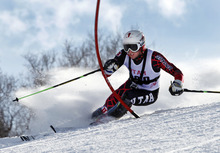 Nick Cohee, University of Utah Alpine Ski team Jan. 25,  2012 in Park City.  (Photo/Steve C. Wilson)