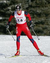 Maria Graefnings, University of Utah Nordic Ski team February 16,  2012 in Park City.  (Photo/Steve C. Wilson)