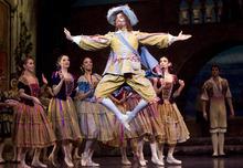 Kim Raff |The Salt Lake Tribune Easton Smith, playing Gamache, dances during a dress rehearsal for Ballet West's