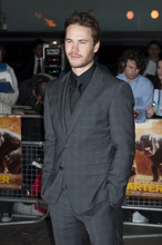 Taylor Kitsch arrives for the UK premiere of John Carter at a central London venue Thursday, March 1, 2012. (AP Photo/Jonathan Short)