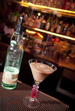 Michael Mangum  |  Special to The Salt Lake Tribune  A vegan chocolate martini is prepared for the March 2 meeting of Vegan Drinks, a social networking group for vegans, vegetarians and their friends, at W Lounge in Salt Lake City.