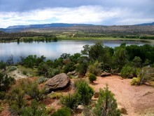 A view from the Petrified Forest Trail at Escalante Petrified Forest State Park. Utah State Parks