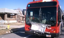 Cimaron Neugebauer  |  The Salt Lake Tribune  A driver suffered minor injures Friday after her SUV struck a Utah Transit Authority bus head-on in Salt Lake City. The accident happened about 8:30 a.m. near 1100 E. Michigan Ave. (990 South).