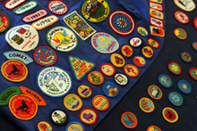 Tribune file photo  Girl scout memorabilia collected by Colleen Paderewski - the second of four generations in her family to be Girl Scouts. The tradition was started by her mother, a Polish immigrant, and has been continued by her daughter and granddaughter