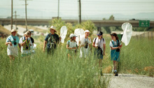 Tribune file photo  Girl Scouts and leaders from troop 1032 at Eastwood Elementary School enjoy Thursday morning at Decker Lake Educational Wetland Preserve in July 1998.
