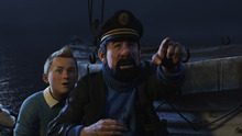Courtesy photo Tintin (performed by Jamie Bell) and Captain Haddock (performed by Andy Serkis) in