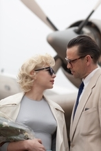 In this film publicity image released by The Weinstein Company, Dougray Scott portrays Arthur Miller and Michelle Williams portrays Marilyn Monroe in a scene from