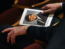 Steve Griffin  |  The Salt Lake Tribune Funeral services for Todd Taylor,  longtime Democratic Party director, were held Monday at the Rose Wagner Performing Arts Center in Salt Lake City.