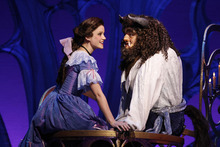 Emily Behny is Belle with Dane Agostinis as Beast in the U.S. touring production of Disney's