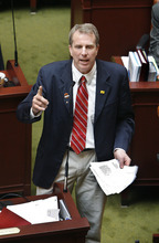 Scott Sommerdorf  |  Tribune file photo             Rep. Chris Herrod, R-Provo, is challenging Sen. Orrin Hatch for the Republican nomination in Utah's U.S. Senate race.